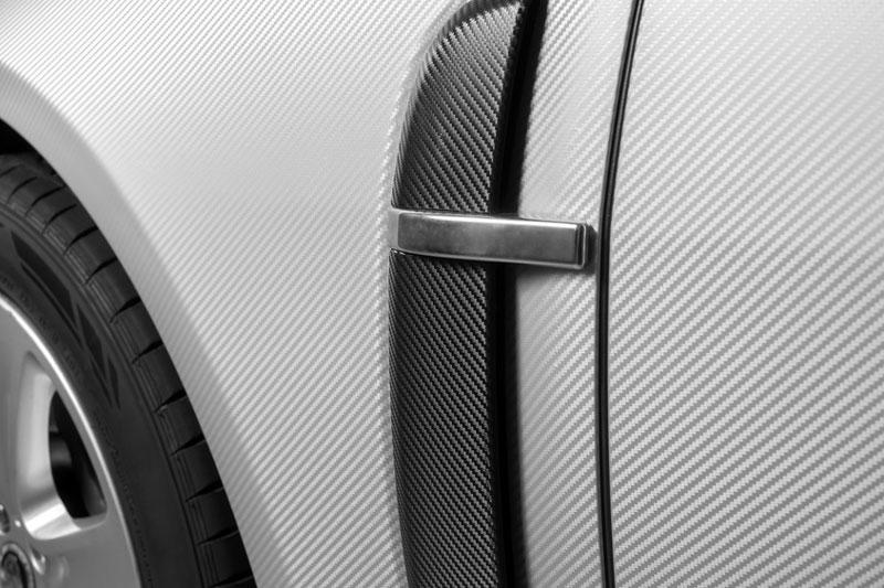 Detailansicht eines Vollfolierten Fahrzeugs.